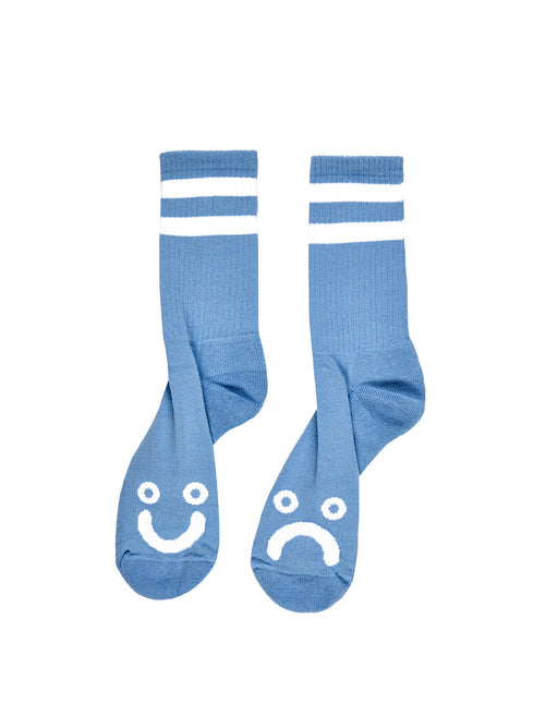 Polar Happy Sad Socks Light Blue