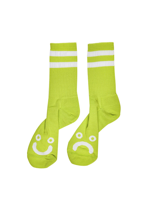 Polar Happy Sad Socks Lime Green