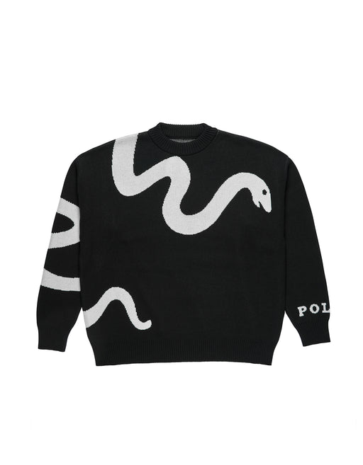 Polar Knit Snake Sweater Black