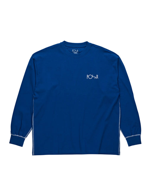 Polar L/S Tee Contrast Dark Blue White