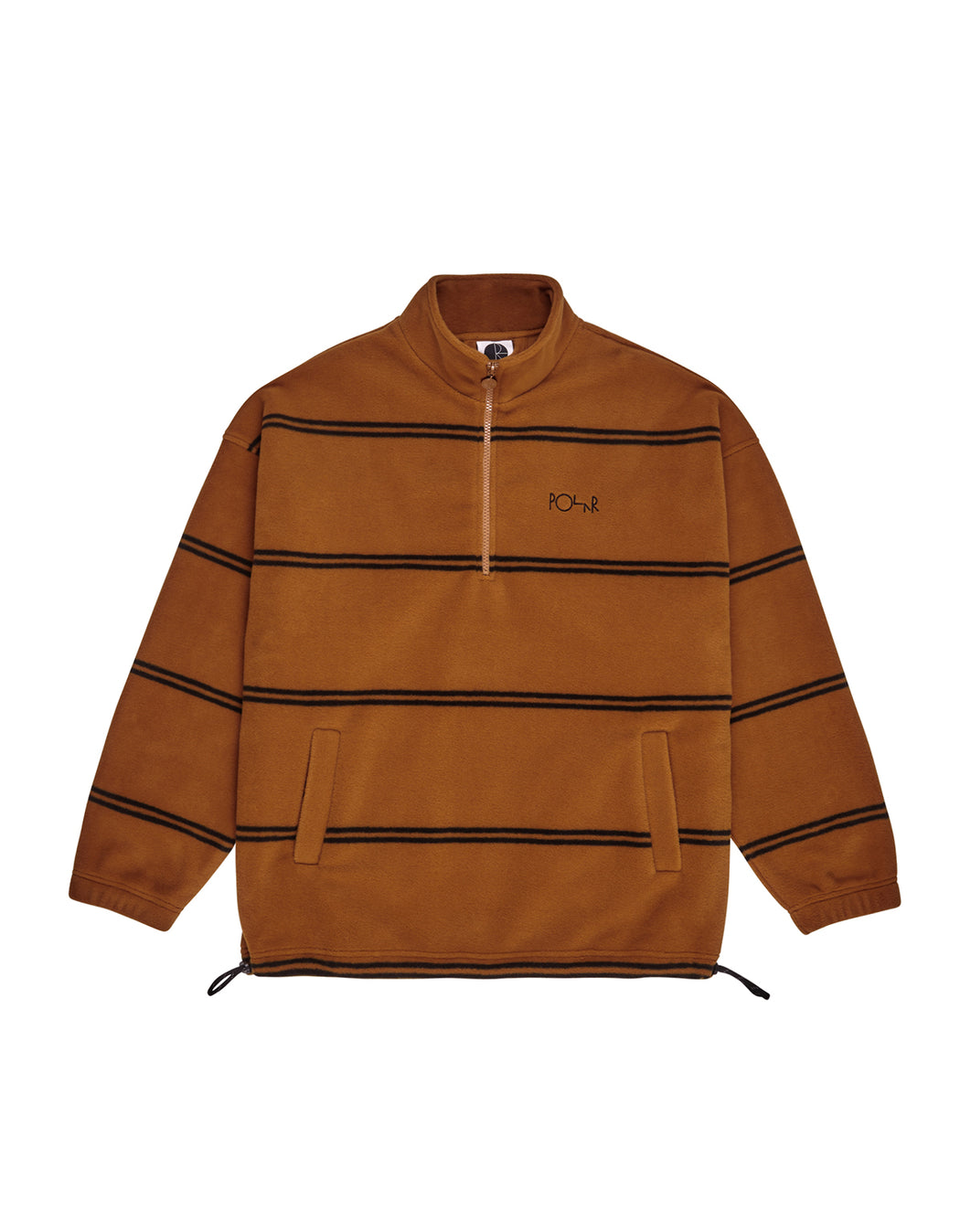 Polar Striped Fleece Pullover Carmel