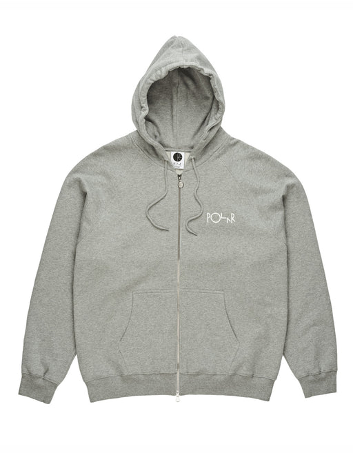 Polar Stroke Logo Fleece Zip Up Hoodie Heather Grey