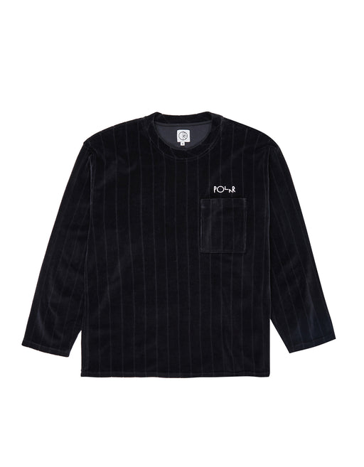 Polar Velour Pullover Crew Black