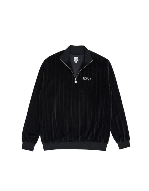 Polar Velour Zip Crew Black