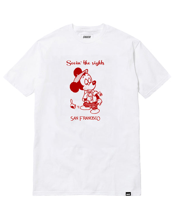 Snack Seein The Sights Tee White