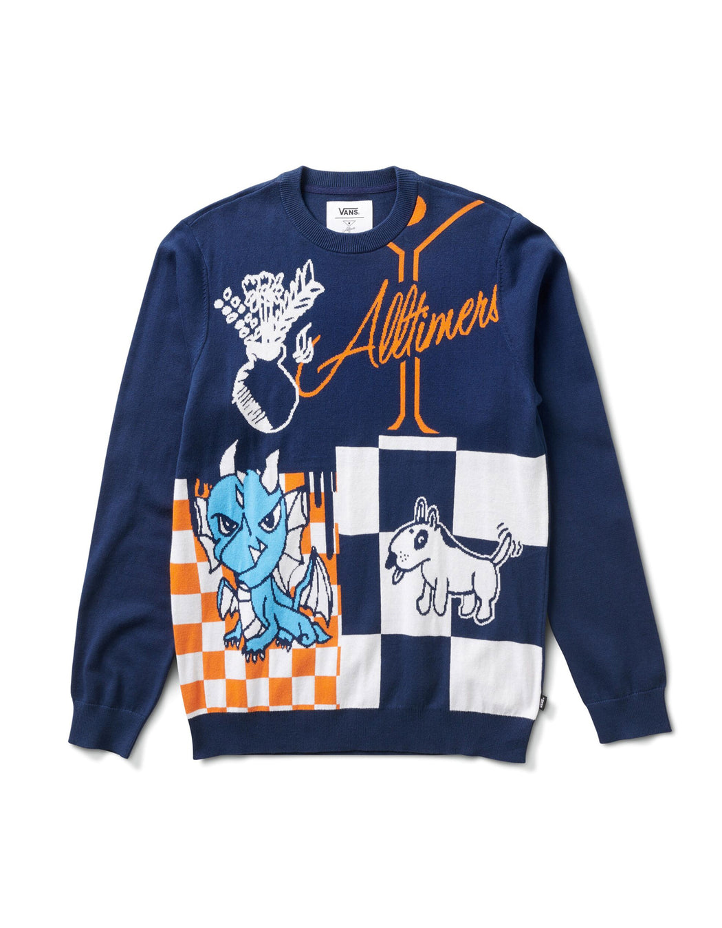 Vans X Alltimers Sweater Dress Blue