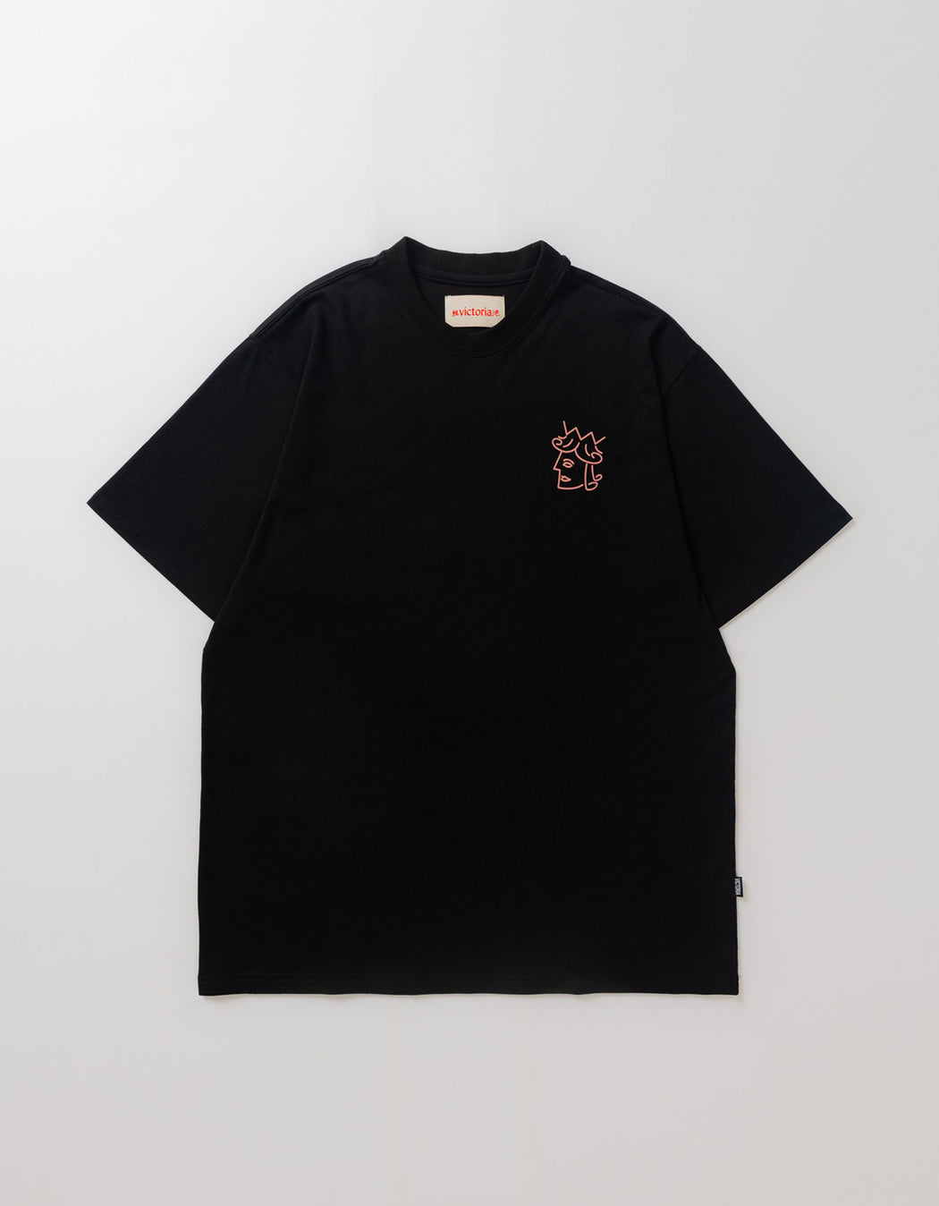 Victoria Queen Head Tee, Black