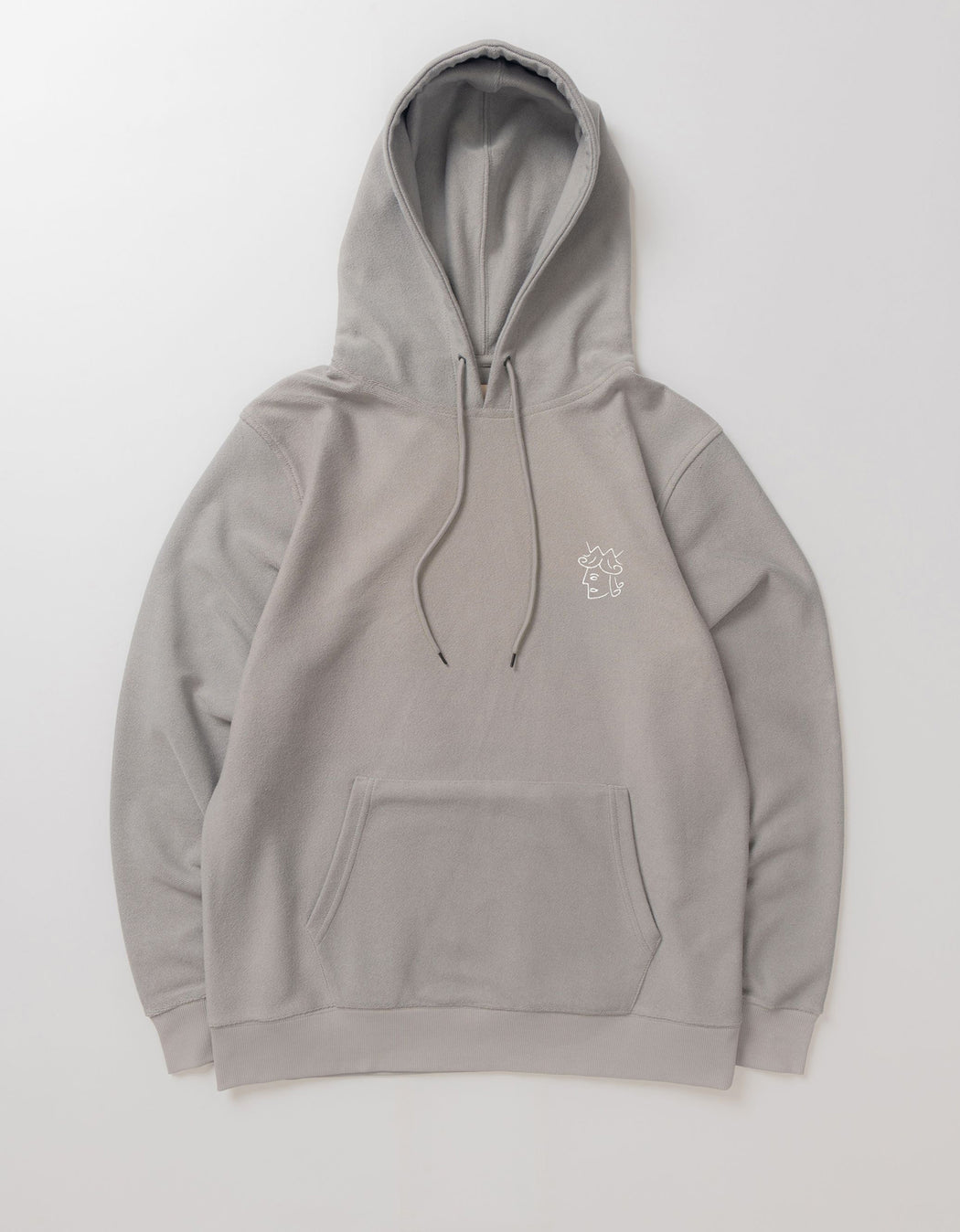 Victoria Reverse Terry Hoodie, Heather Grey