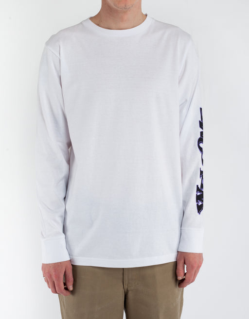 Welcome Captain L/S tee White
