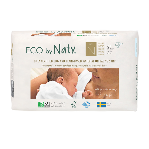 Eco by Naty - Bleer størrelse N (Newborn)