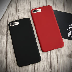 Silicone Case. Durable And Ultra Slim - Available for all iPhone models. Black and Red