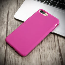 Durable, Ultra Slim, Silicone Cases. Available for all iPhone models. Dark Pink.