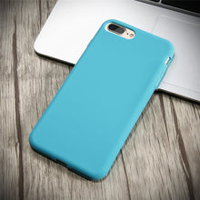 Durable, Ultra Slim, Silicone Cases. Available for all iPhone models. Blue.