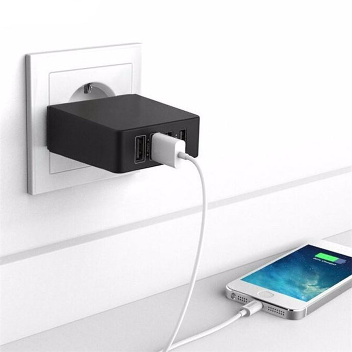 Power Adapter 4 x USB-C Fast Charging Black