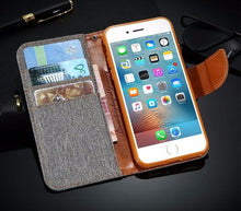 Wallet Flip Case With Leather and Card Slot