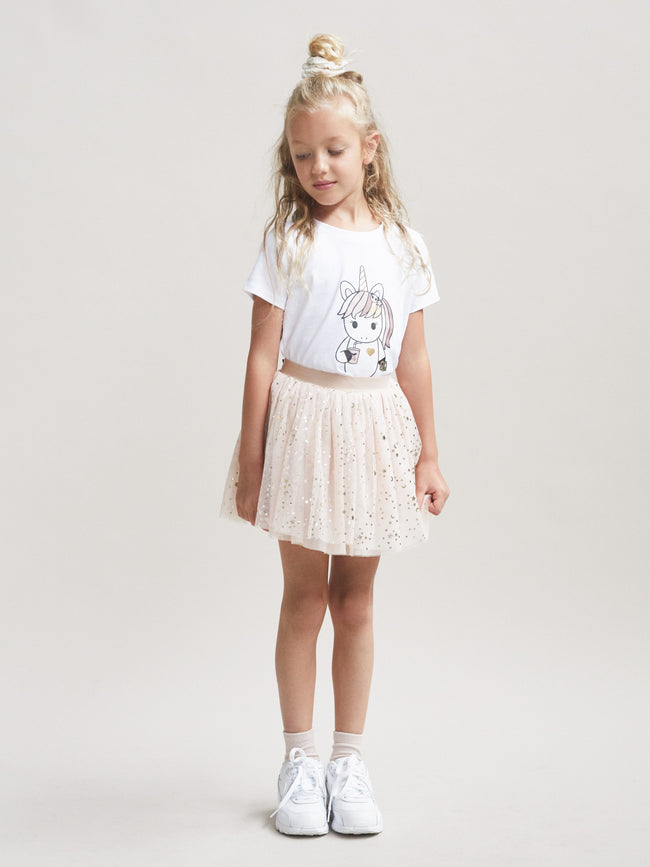 Gold Star Tulle Skirt - Huxbaby