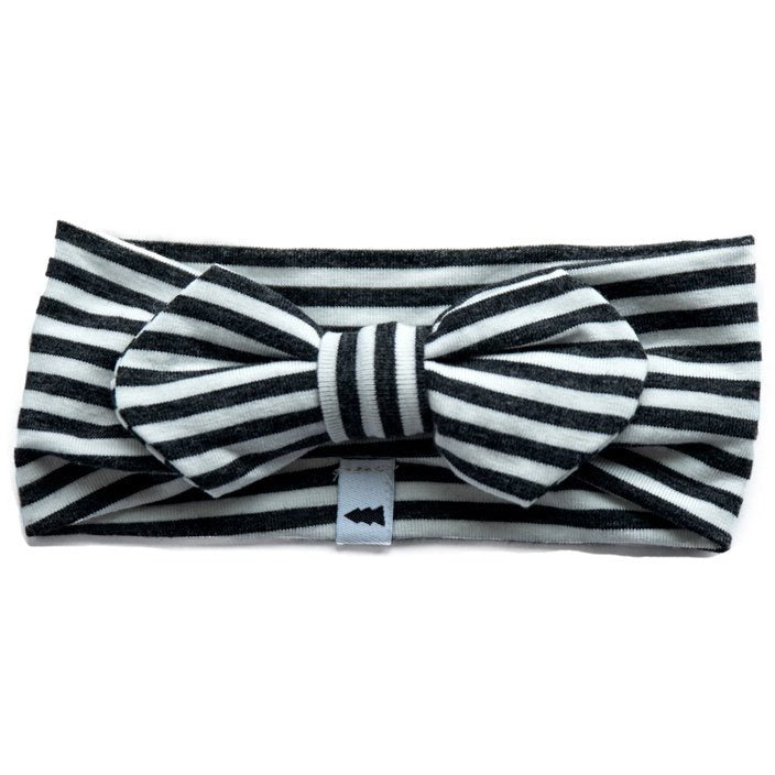 Headband (Striped Charcoal) - by North Kinder