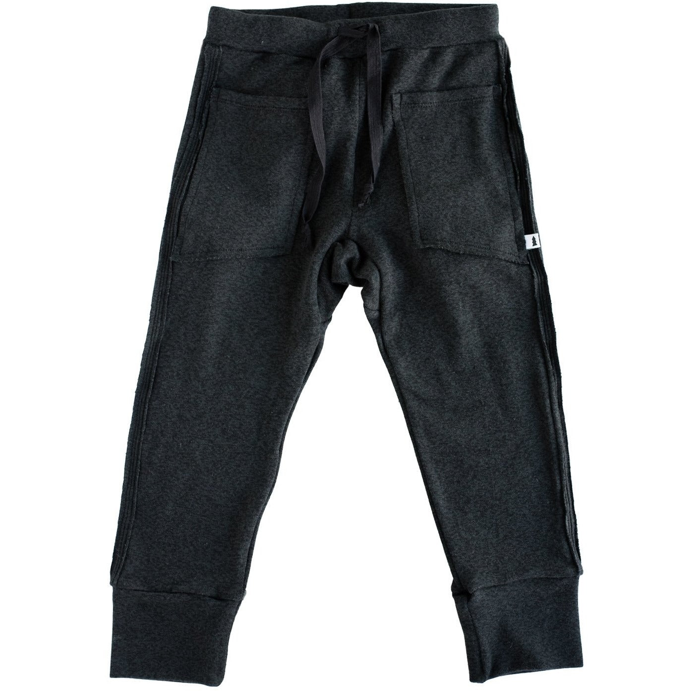 Knit Joggers - Tencel (Marled Black) - by North Kinder