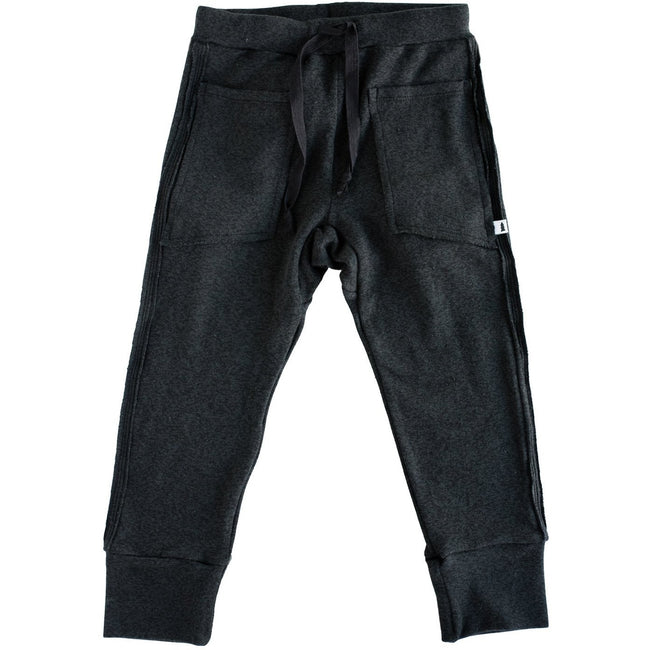 Knit Joggers - Tencel (Marled Black) - North Kinder