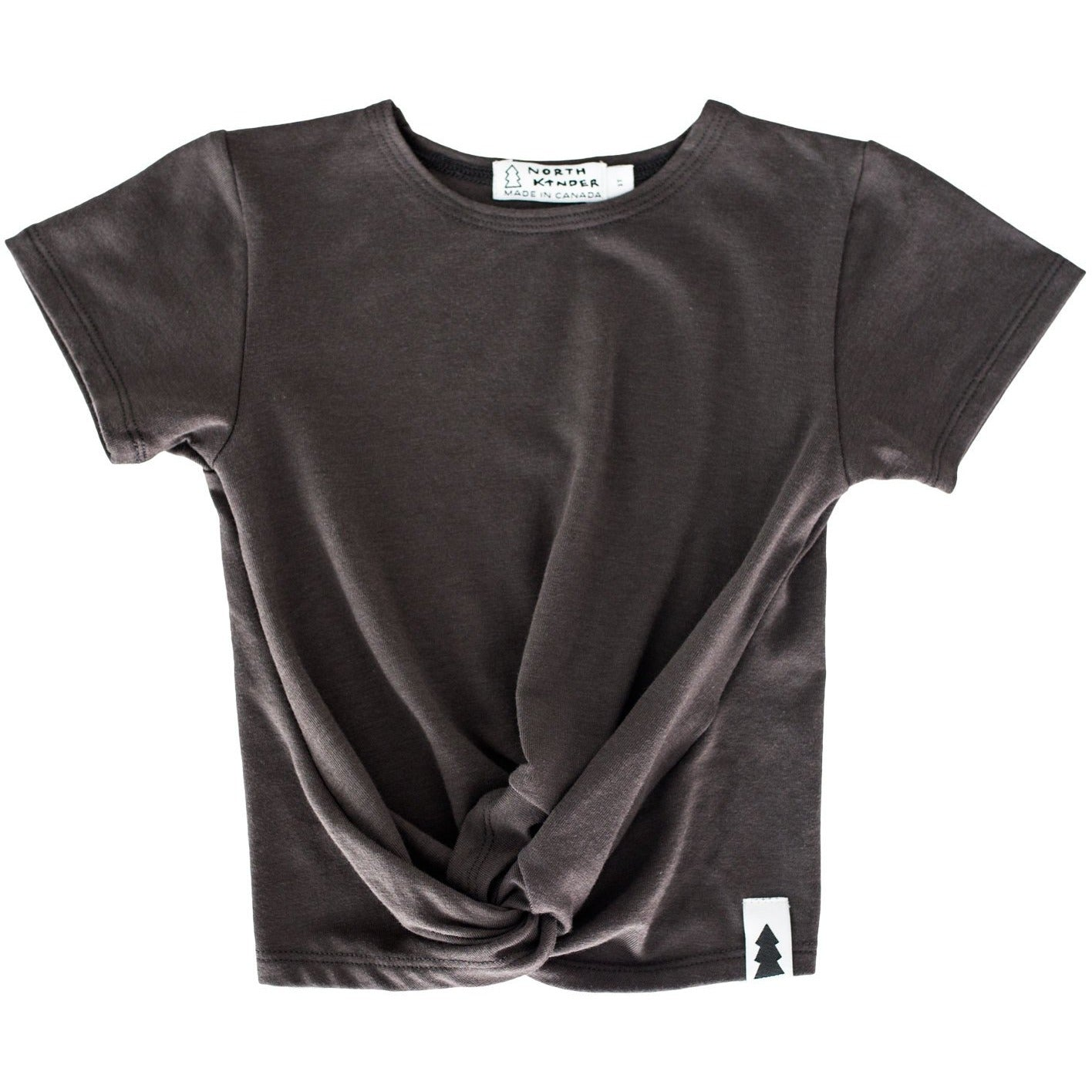Knotted Tee (ash black) - North Kinder