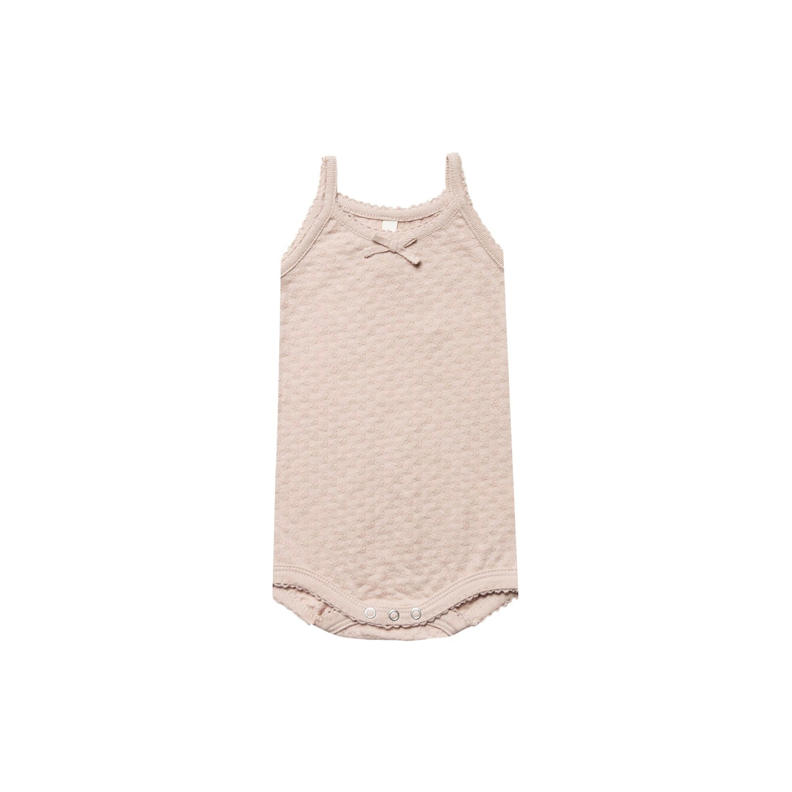 Rose Pointelle Tank Onesie - Quincy Mae