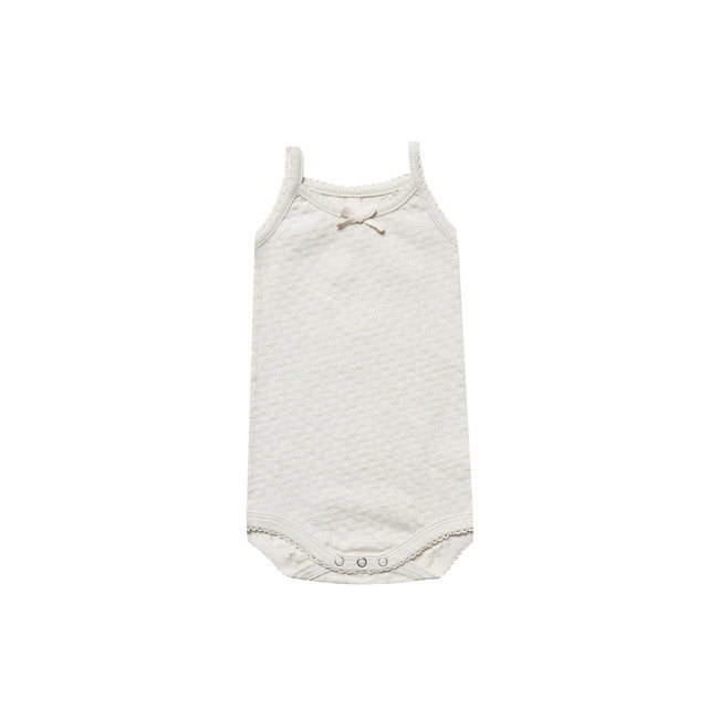 Pebble Pointelle Tank Onesie - Quincy Mae