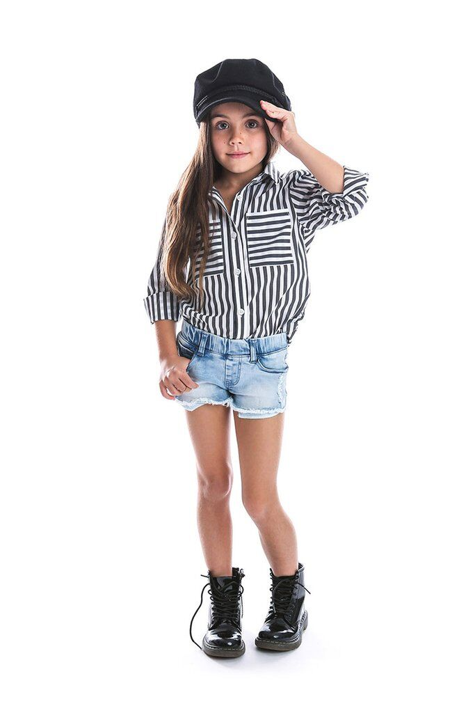 Black & White Striped Shirt - Kids