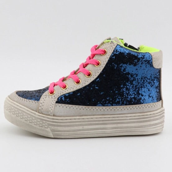 Peyton High-Top Sneakers (Blue)