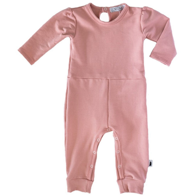 Gathered Romper (Blush Rose) - by North Kinder