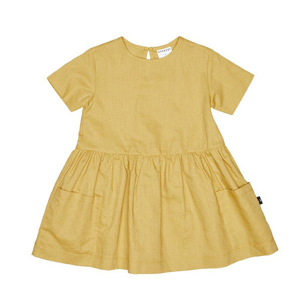 Mustard Darcy Dress - Huxbaby