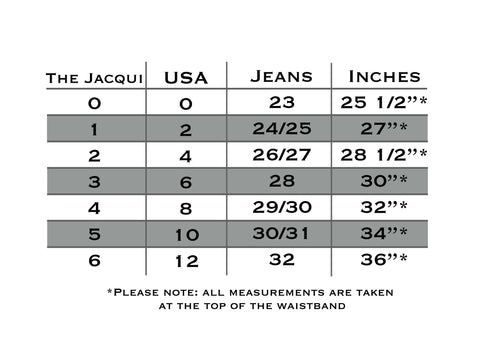 JACQUI style Pocketed Belt Sizing