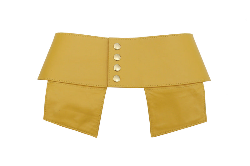 Jacqui Corset Leather Pocketed Belt in Sunshine