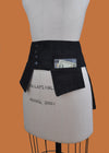 Jacqui Denim Pocketed Belt in Black