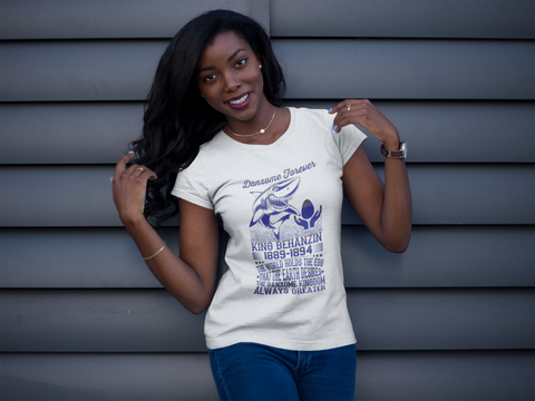 Tee-shirt King Behanzin Femme Manches Courtes Blanc