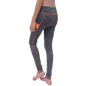 Women's Yoga Pants Orange Patch