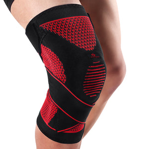 Silicone Knee Pads Volleyball Knee Brace Support Sports Adjustable Bandage