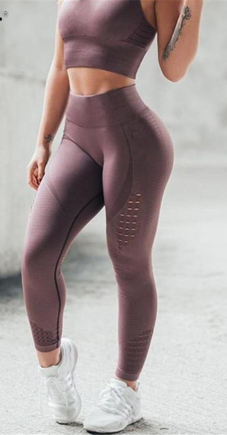 Women Push Up Casual Fitness Leggings  - High Waist
