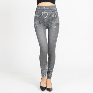 NEW GRAY JEAN LEGGINGS - 2019