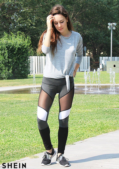 Winter Workout Leggings - New Arrival Mesh Insert Leggings