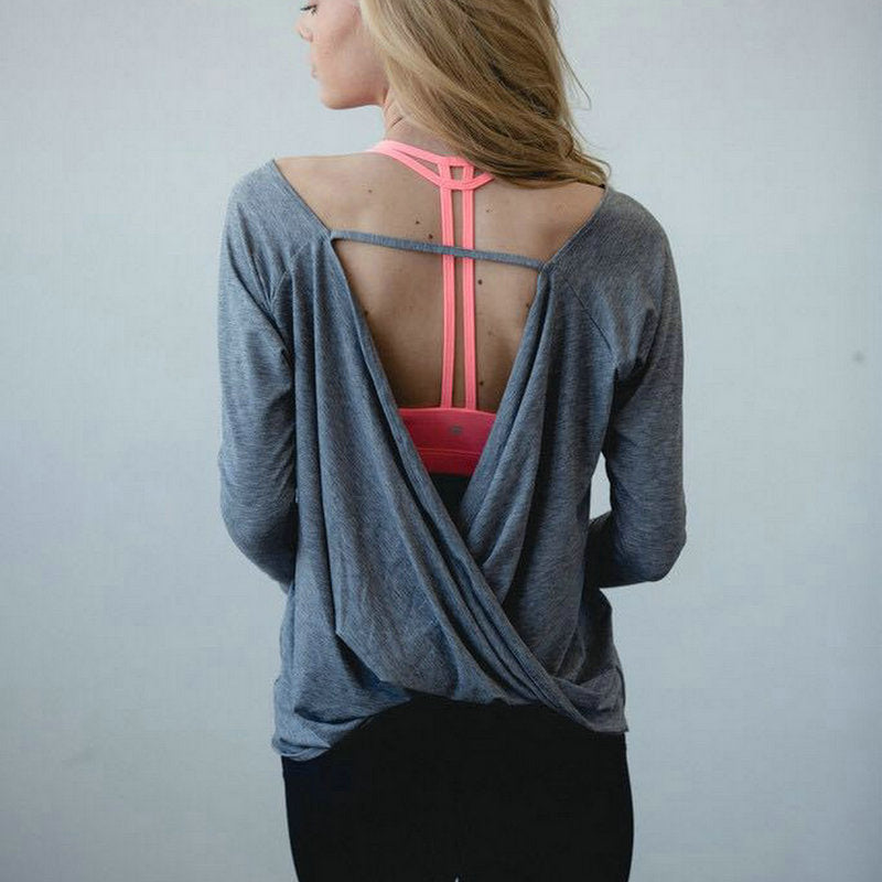 Loose Long Sleeves Yoga Workout Top