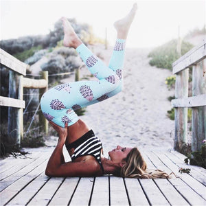 Summer Animal Print Yoga Pants hedgehog Sport leggings