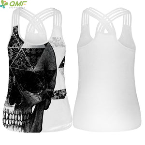 Strappy Yoga tank Top - Cheshire Cat Pattern