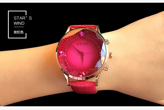 Quartz Watch Rhinestone Waterproof Women's Watch