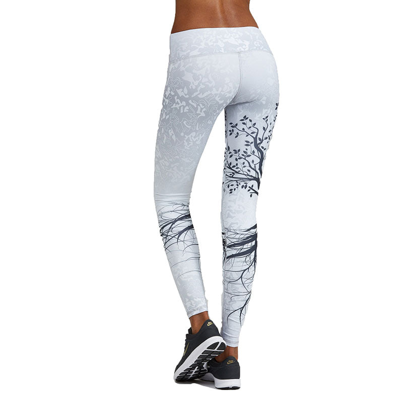 Tree Pattern Sport Leggings- Living Tree - New Vendor