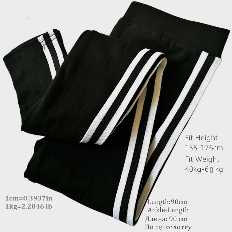 Leggings Women Pants Autumn Legging  With Athletic stripe