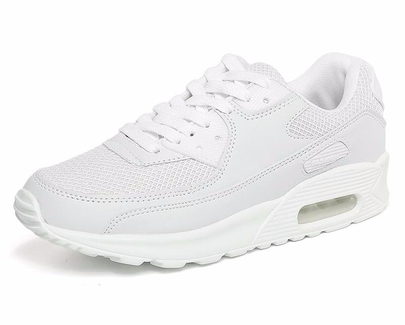 Women Athletic Sport White Running Shoes