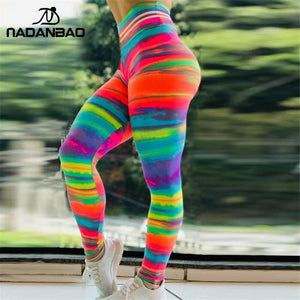 Sporting Women Colorful Sunset Glow 3D Print Fitness Legging Workout Leggings