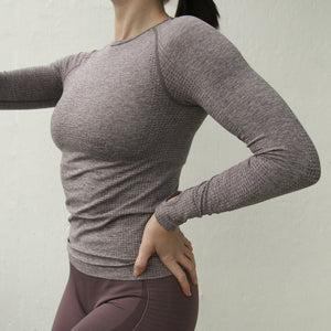 Seamless Long Sleeve Women Gym Fitness Top