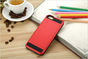 New Hybrid Tough Capa Case for Cell Phone with Card Holder