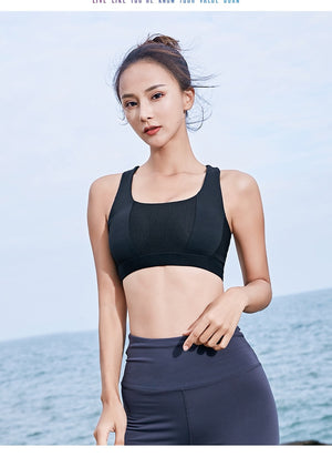 New women's Fitness Shock-Proof Yoga bra or Gym top